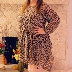 Beautiful leopard chiffon dress